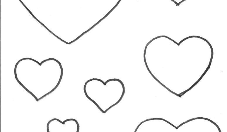 Heart Template 1 – Free Printable