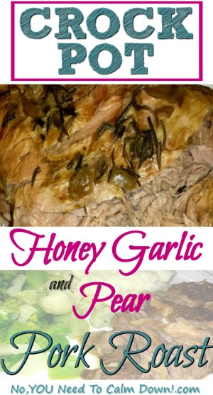 Crock Pot Honey Garlic Pork Roast with Pears takes just a few minutes to prep. A delicious, kid-approved crock pot meal!