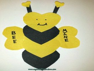 Valentine's Day Craft – Bee Valentine w/Free Template