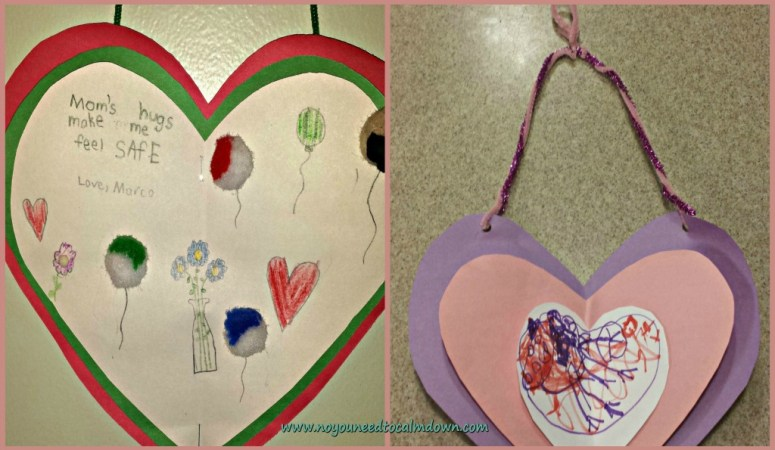 Valentine's Day Craft – Wall Hearts