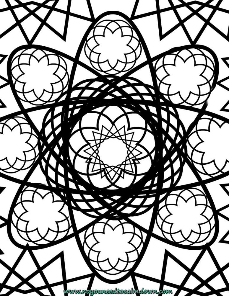 Spiro adult coloring page