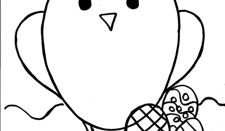 Easter Chick Coloring Page for Kids – Free Printable