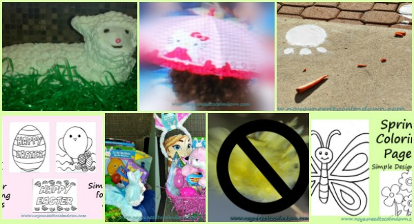 Never Spring Clean, Rainy Day Activities, Lamb Cake, Basket Ideas, Coloring Pages – Spring and Easter Round Up