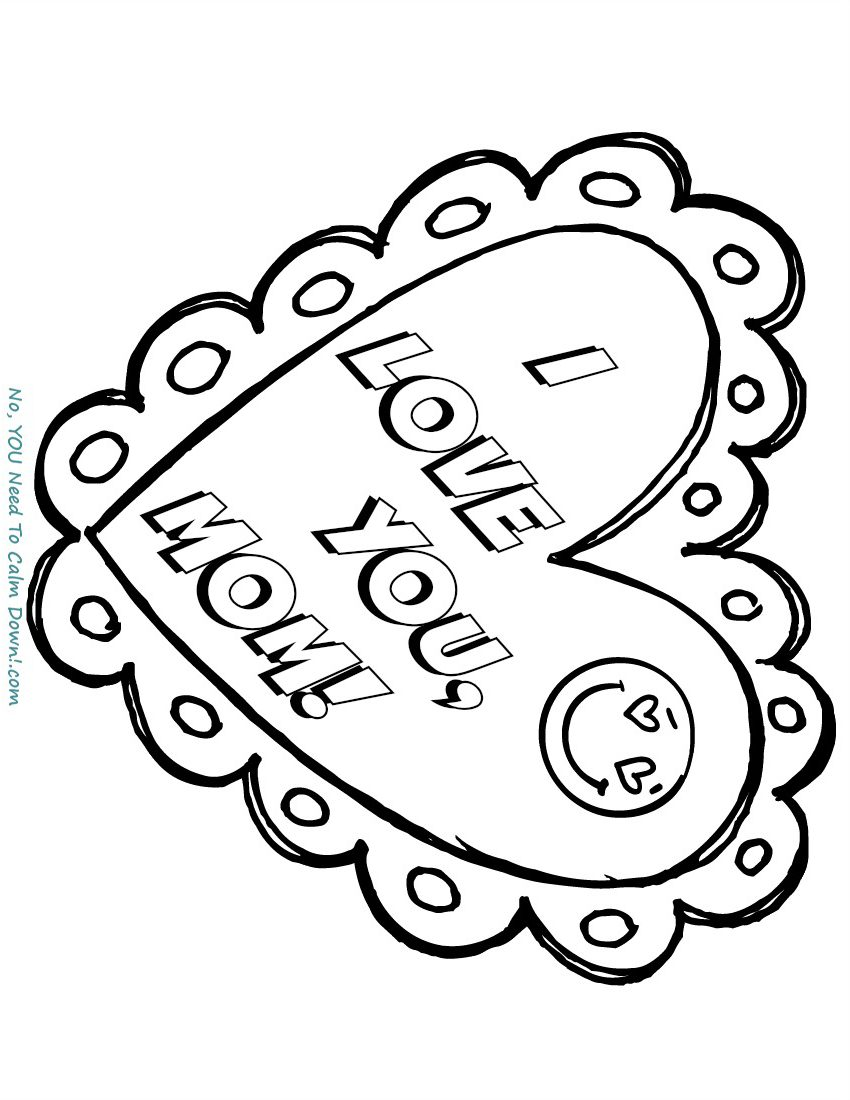 Love You Coloring Pages I Love You Mommy Coloring Page Free
