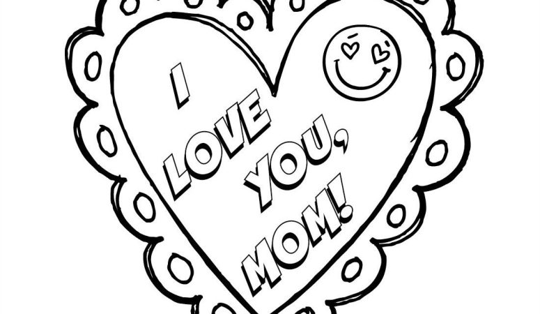 i love you mom mothers day coloring page free printable - Free Mothers Day Coloring Pages
