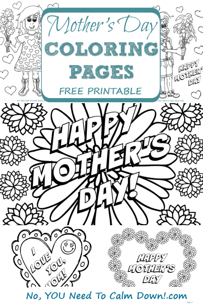 Mother's Day Coloring Pages-Free Printable