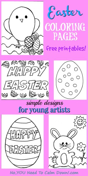 Easter Coloring Pages for Kids Free Printables No YOU