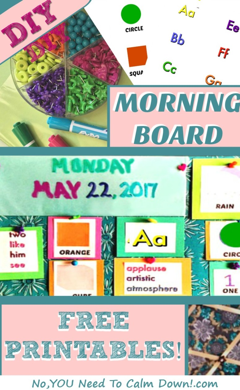 Make this DIY 2-sided Morning Board easily with my free printables!