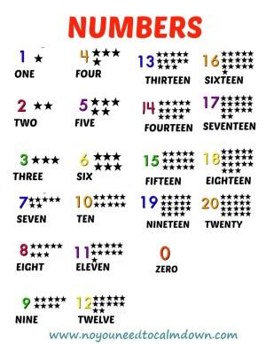 Numbers Free Printables
