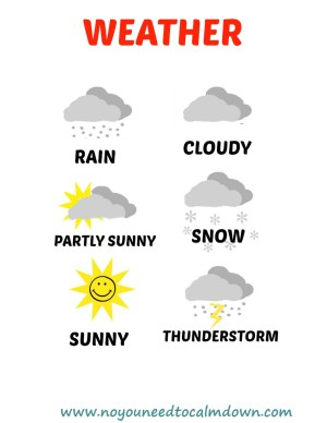 Weather Free Printable
