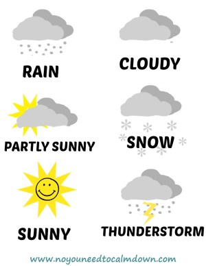 Weather Free Printables