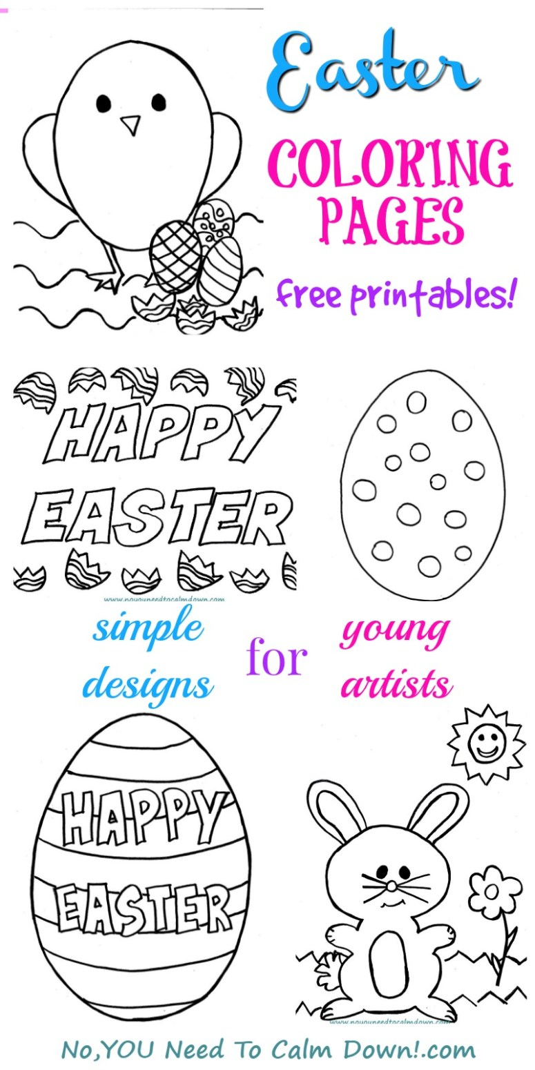Easter Coloring Pages for Kids - Free Printables | No, YOU ...