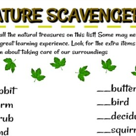 Nature Scavenger Hunt – Free Printable