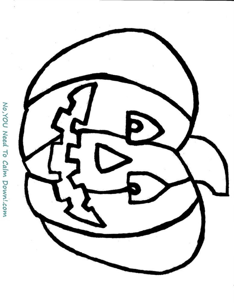 Pumpkin coloring page for kids. This is a free printable that has a simple design for young artists! #halloween #kidscoloringpage # freeprintable #pumpkin