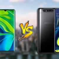 Xiaomi Mi Note 10 vs Samsung Galaxy A80: Specs Comparison
