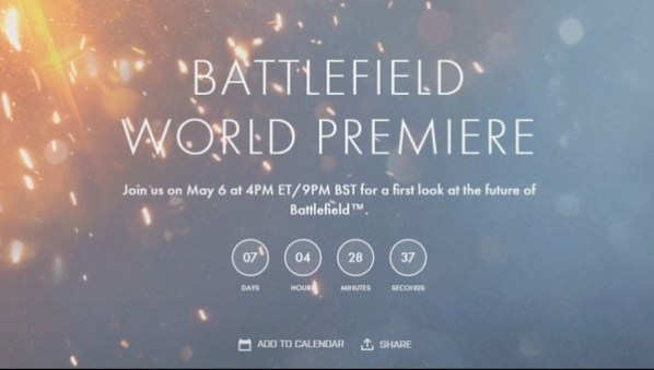 BF5 Announce