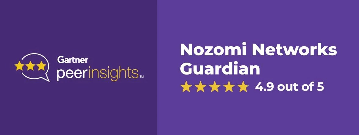 Customers Give Nozomi Networks Top Score in Gartner Peer Reviews