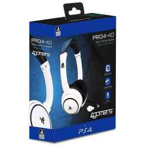 Auscultadores Gaming 4Gamers PRO4-40 Branco PS4