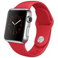 Apple Watch 38mm (1st Gen.) Stainless Steel Case Silver Red