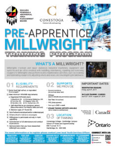 Pre-Apprentice Millwright Training Program Flyer