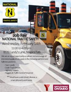 National Traffic Safety Job Fair Flyer