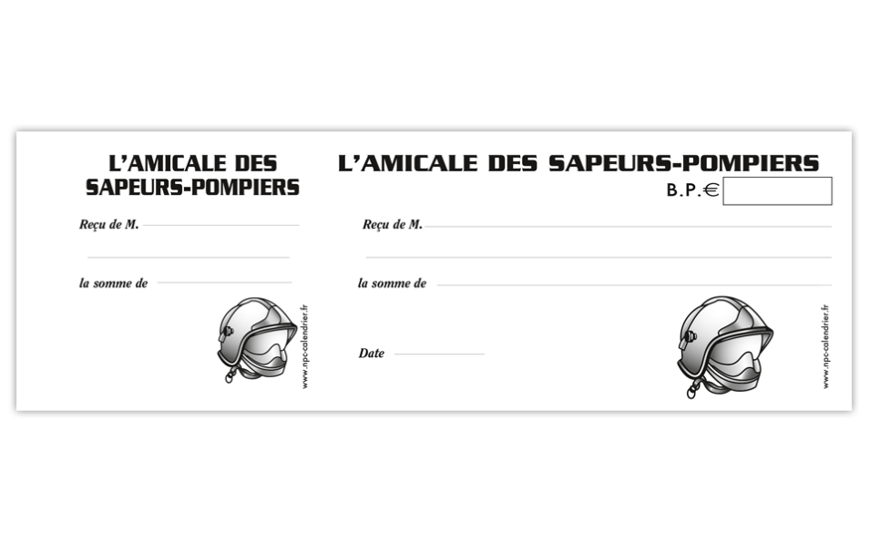 carnet à souche personnalisable, calendrier sapeur-pompier, calendriers sapeurs-pompiers, npc-calendrier.fr