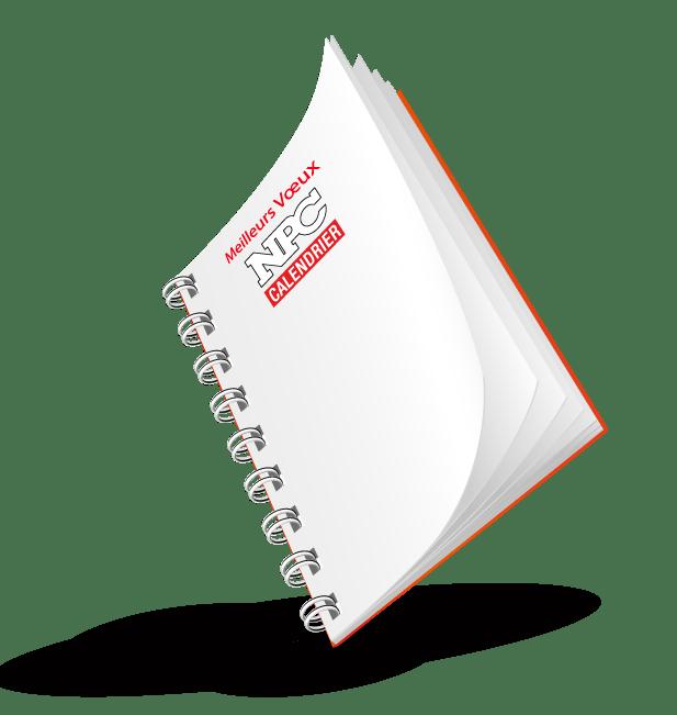 agenda de bureau npc calendrier