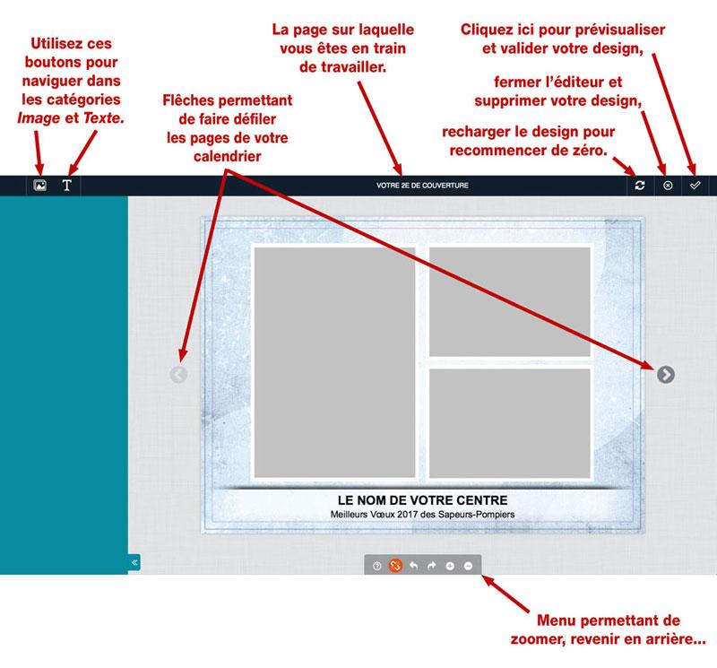 tutoriel de personnalisation en ligne de calendrier de sapeur-pompier 4, npc-calendrier.fr