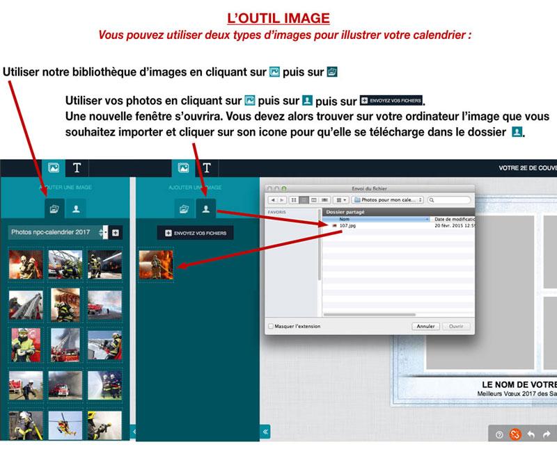 tutoriel de personnalisation en ligne de calendrier de sapeur-pompier 5, npc-calendrier.fr