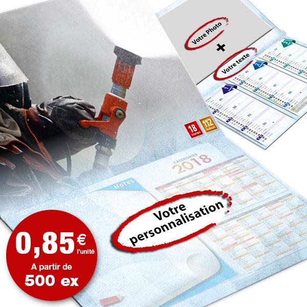 calendrier de pompier personnalisé texte et photo, npc calendrier 8+4 option 2