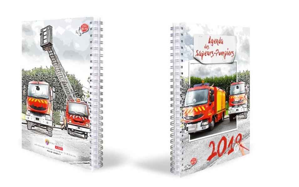 npc-calendrier.fr, calendrier des sapeurs-pompiers personnalisés et personnalisables, grand agenda, 2018, 2