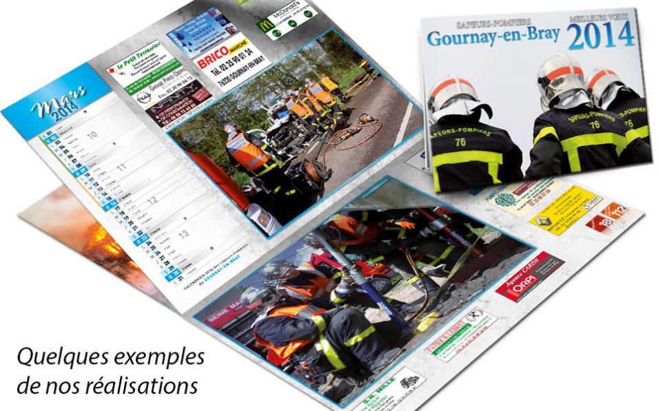 npc-calendrier.fr, calendrier des sapeurs-pompiers personnalisés et personnalisables, gournay, 2014
