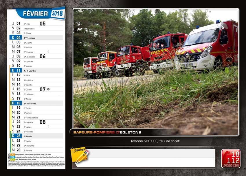 calendrier des sapeurs-pompiers de Egletons-2018-3, npc-calendrier.fr