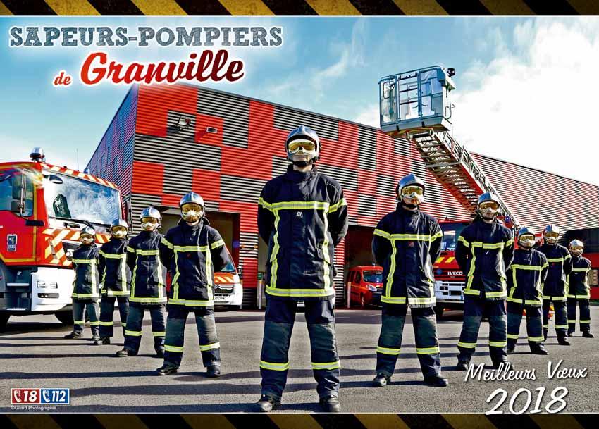 calendrier des sapeurs-pompiers de Granville-2018-1, npc-calendrier.fr