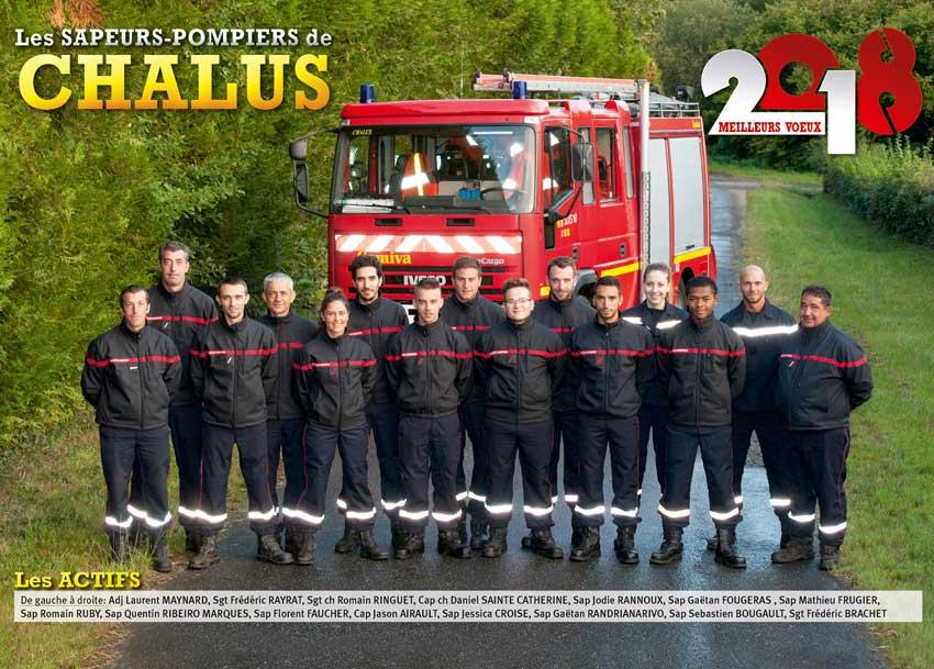 calendrier des sapeurs-pompiers de Chalus-2018-1, npc-calendrier.fr