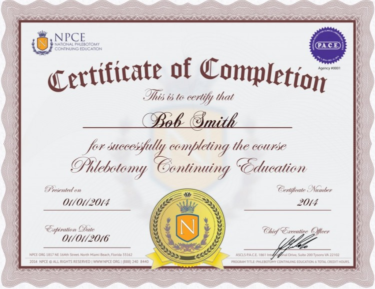 Phlebotomy Continuing Education Phlebotomy Ce Credits