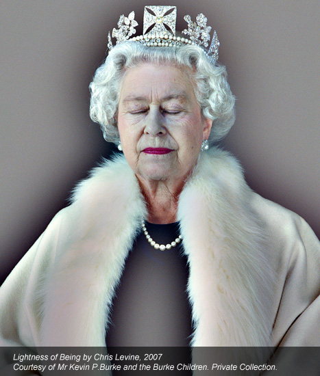 Portrait of the Queen - Lightness of Being by Chris Levine