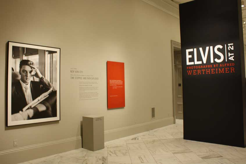 "Image of the Exhibit ""Elvis at 21"""