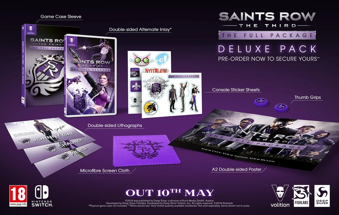 Saints Row: The Third Full Package, ecco i contenuti esclusivi su Nintendo Switch