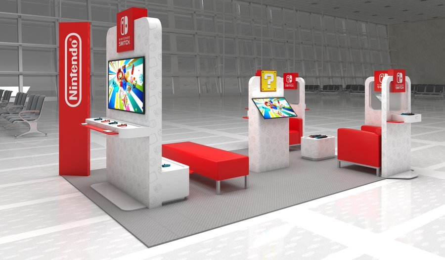 In arrivo postazioni a tema dedicate a Nintendo Switch in alcuni aeroporti americani