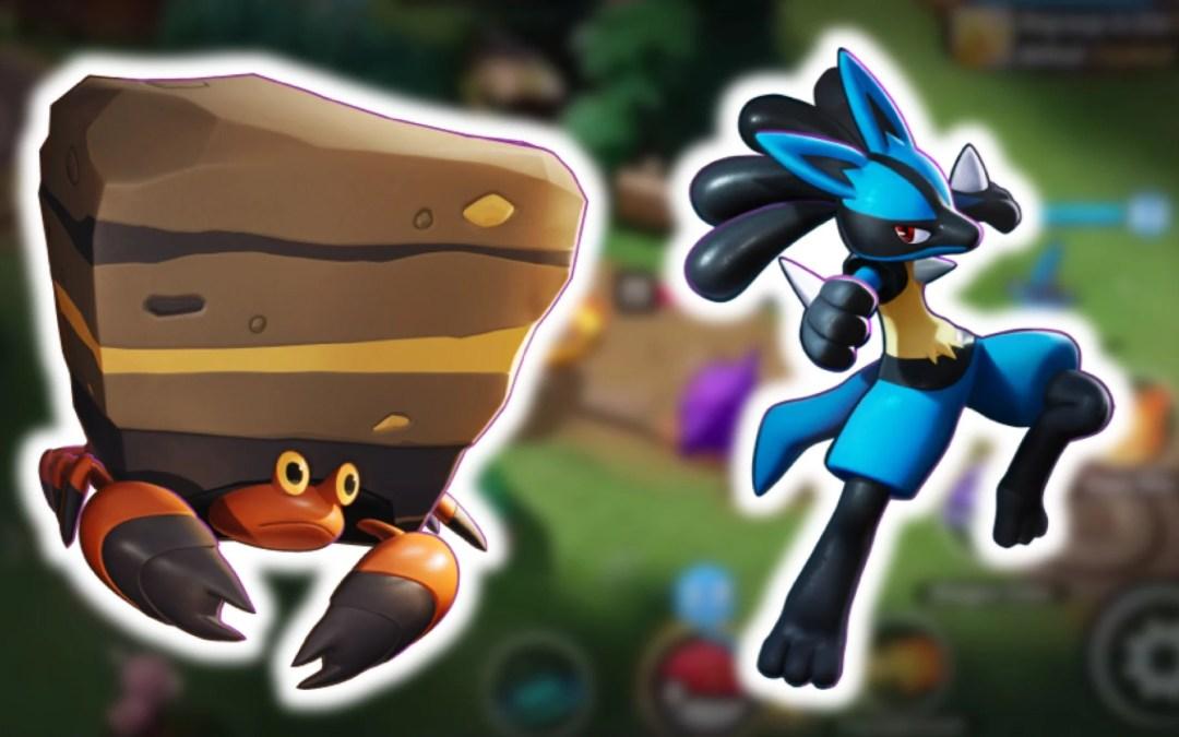 Pokémon Unite: un aggiornamento sistema i bug di Crustle e Lucario