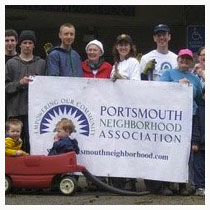 Portsmouth neighborhood association with banner