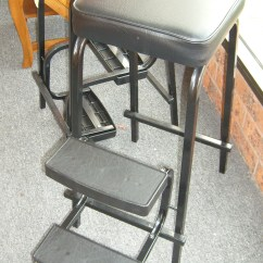 Kitchen Step Stool With Seat Metal Tables Chair  Npnurseries Home Design The