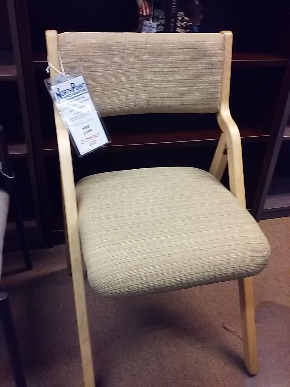 Janna Folding Chair Upholstered Seat  Back  North Point