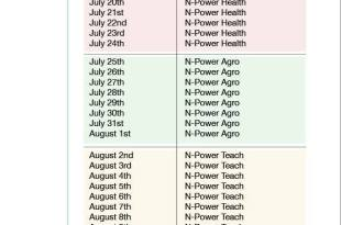 Npower Assessment Test Time Table