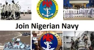 Nigerian Navy recruitment for 2020 application form is available