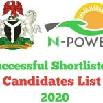 Npower Batch C Programme Stage 2 Shortlisted Candidates 2020 Check Here