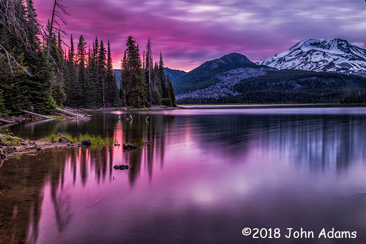 3rd Place Scenic - Sparks Lake at Sunset by John Adams