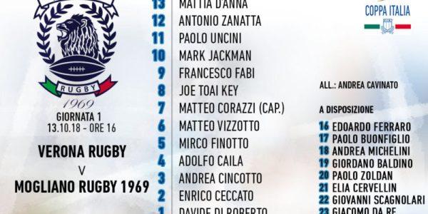 Mogliano a Verona per la prima di Coppa Italia