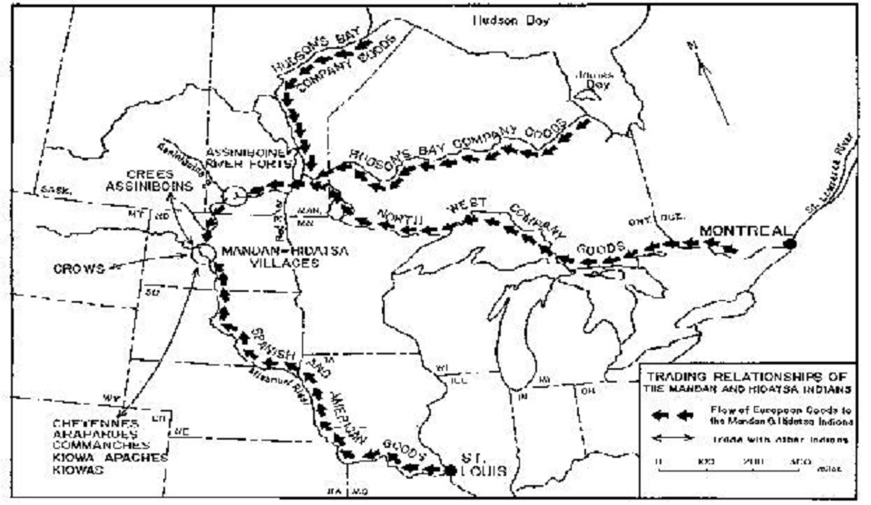 History of Hidatsa: Pre-1845 (U.S. National Park Service)